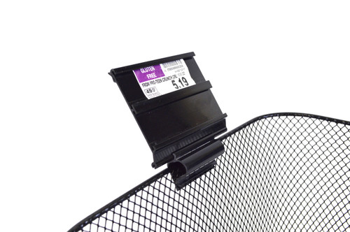 "Double Channel Ticket Holder  - 3""W x 3.5""h  40/Pack"