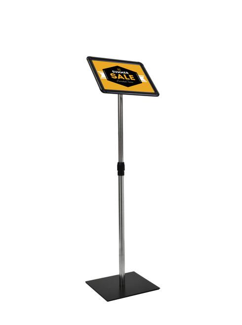 Deluxe pedestal sign holder -  adjustable height - 8.5 x 11