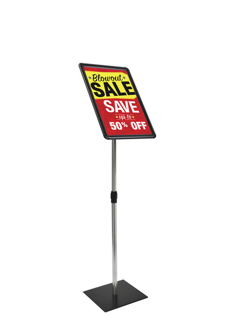Deluxe pedestal sign holder -  adjustable height - 17 x 11