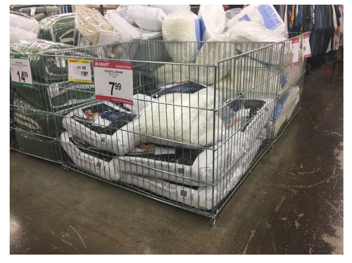 Wire Merchandising Dump Bins