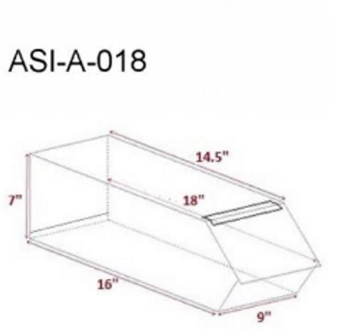 Acrylic Merchandising Bins