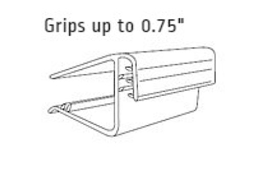 "Square Shelf Sign Holder-Grips 0.75""-1""Shelf - 1.5""L-25/Pack"