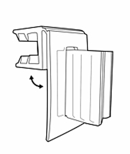 Hinged Gripper Flag Sign Holder 25/Pack
