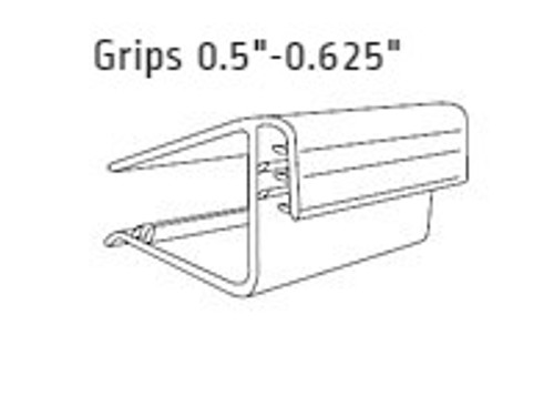 "Shelf Edge Gripper - Flush Sign Holder-Grips 0.5""-0.625""-1.5""L 25/Pack"