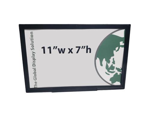"Plastic Sign Holder - Wedge Base - 11"" x 7""  20/Pack"