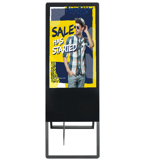 "32"" Greeter Display - Touchscreen - Digital A-Frame Sign - Android OS"