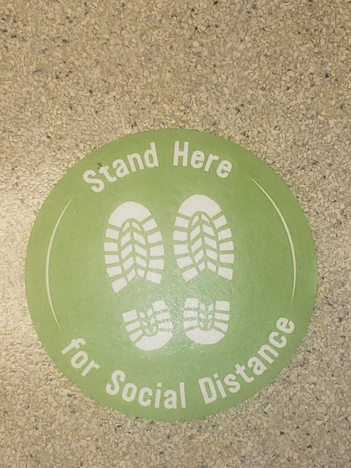 Stand Here For Social Distancing
