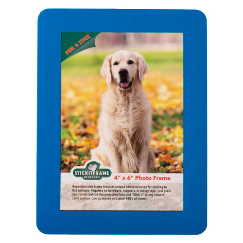"""4"""" x 6"""" Stick it Frame - Reposition and Reuse - Blue"""