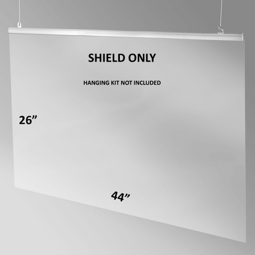 "PVC Sheet for Hanging Sneeze Guard Kit - 44"" x 26"""
