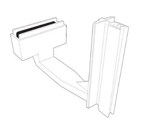 Aisle Blade Holder - Magnetic Shelf Sign Gripper 5/Pack