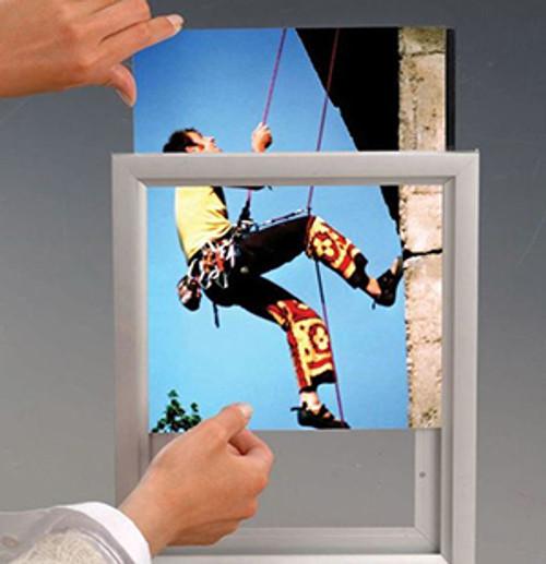"""Aluminum Slide In Frame - 11""""w x 17""""h - Silver - 1"""" Frame 1/Pack"""