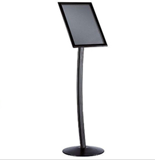 """Front: 8.5"""" × 11"""" Curved Floor Sign Stand & Menu Stand"""