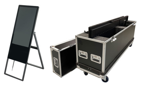 "32"" Display - Touchscreen - Digital A-Frame Sign - Includes Travel Case"