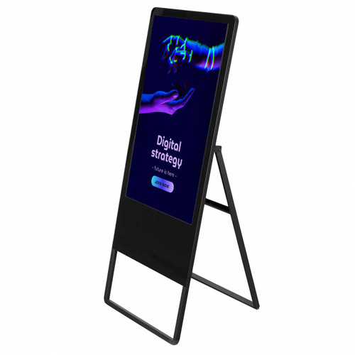 """32"""" Display - Touchscreen - Digital A-Frame Sign - Includes Travel Case"""