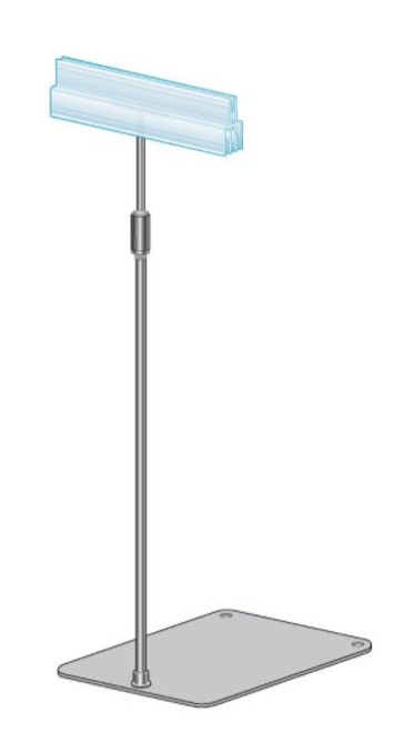 THREE GRIP, TELESCOPIC EDGE STEM, ADJUSTABLE SIGN HOLDER WITHOUT ANY SIGNAGE