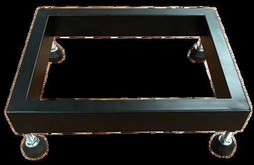 "Metal Floor Display Riser with 4 Casters - Black - 13"" x 10"" x 2"""