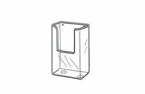 "Wall Mount Styrene Brochure Holder drawing  for 4""w x 9.5""h collateral"