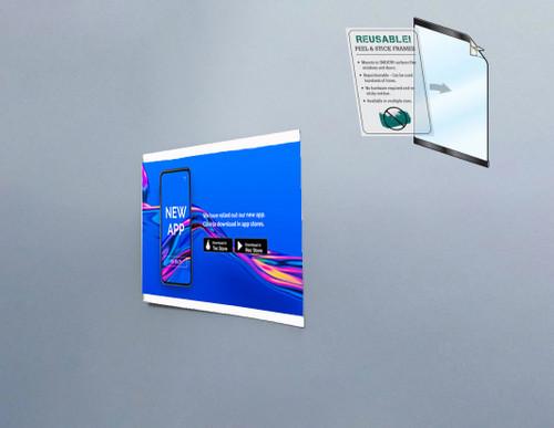 """Reusable Frame 11""""w x 8.5""""h  1/2"""" White Border - Landscape - 5/Pack"""