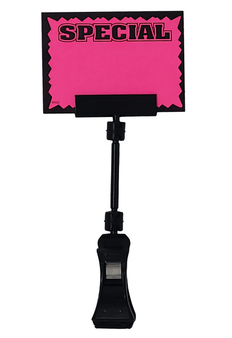 "POP Rotating Sign Clip - Black Plastic - 6""h"