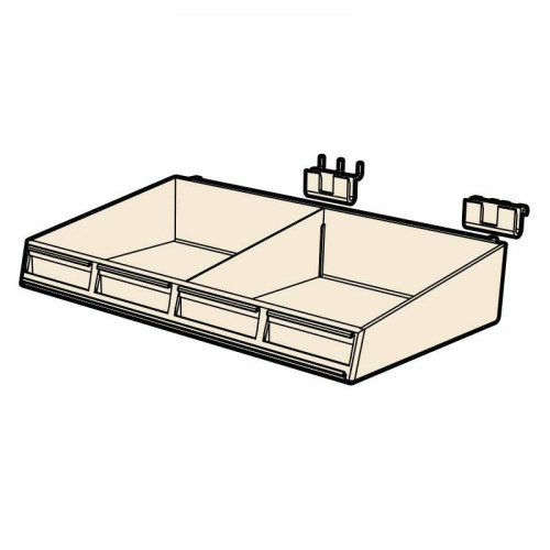 """Clear tray for retail merchandising - 15 7/8"""" wide x 7 1/2"""""""
