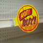 Flag Style Shelf Mount Sign Gripper - Holds sign perpendicular to the shelf