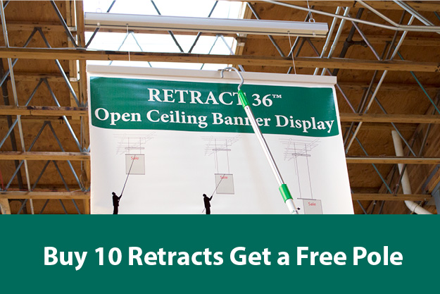 Buy 10 retract banner systems get a free pole