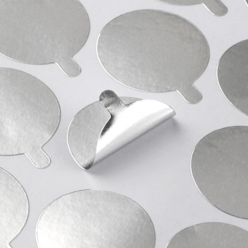 SILVER ADHESIVE STICKERS