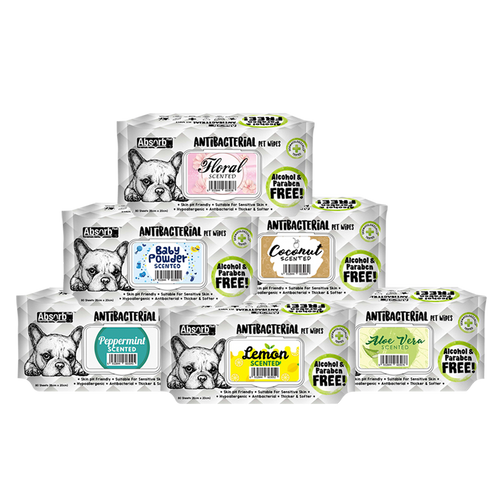 Absorb Plus Antibacterial Pet Wipes