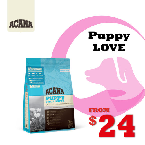 PUPPYLOVE 30% OFF ACANA Heritage Puppy Small Breed Dog