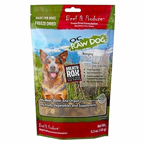 OC Raw Dog Meaty Rox Freeze Dried Toppers