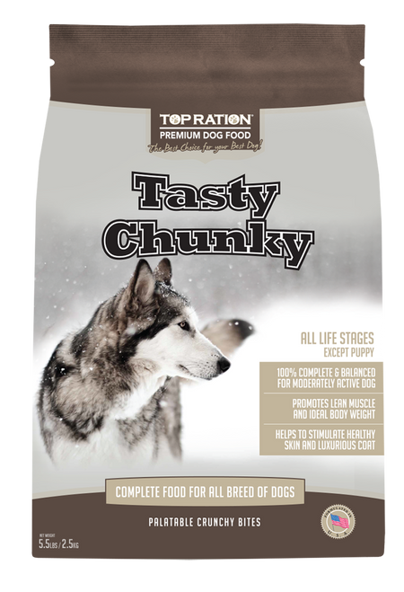 TopRation Tasty Chunky Dog Kibbles