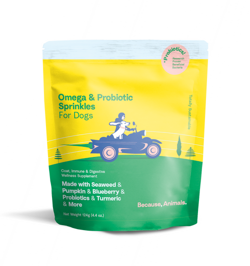 Because Animals Omega and Probiotic Sprinkle for Dogs
