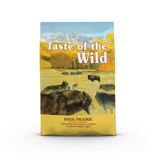 Taste Of The Wild High Prairie Canine Recipe with Roasted Bison & Roasted Venison Dog Kibbles