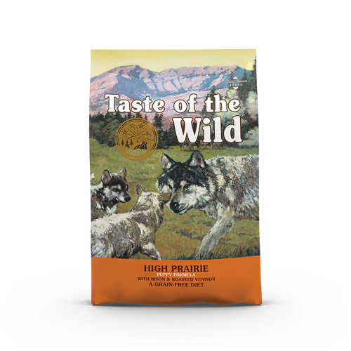 Taste Of The Wild High Prairie Puppy Recipe with Roasted Bison & Roasted Venison Dog Kibbles