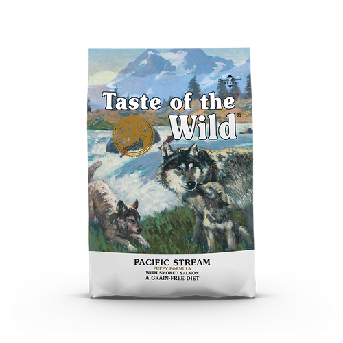 Taste Of The Wild Pacific Stream Puppy Recipe with Smoked Salmon Dog Kibbles