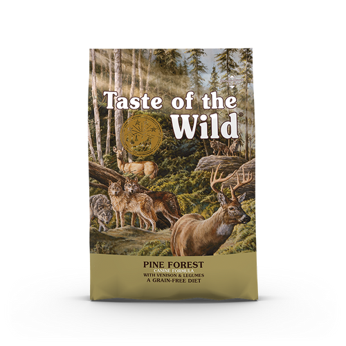 Taste Of The Wild Pine Forest Canine Recipe with Venison & Legumes Dog Kibbles