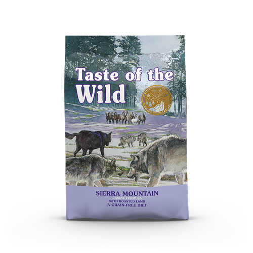 Taste Of The Wild Sierra Mountain Canine Recipe with Roasted Lamb Dog Kibbles