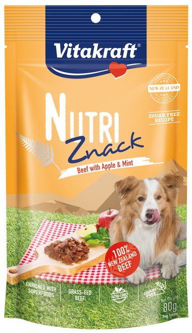 Vitakraft Nutri Znack Beef w Apple & Mint Dog 80g