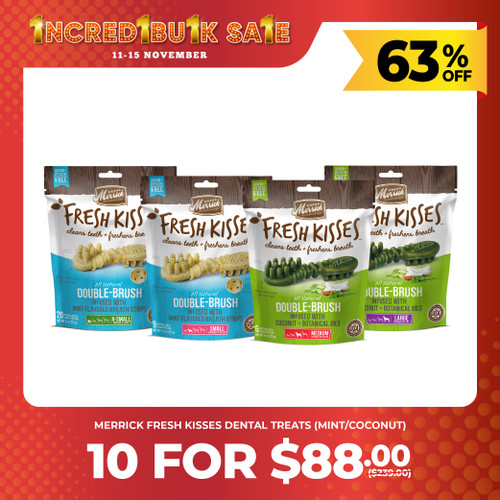 IncrediBULK SALE 10 for $88 Merrick Fresh Kisses