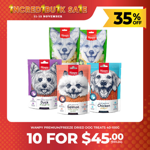 IncrediBULK SALE 5 for $25 WANPY Dog Treats