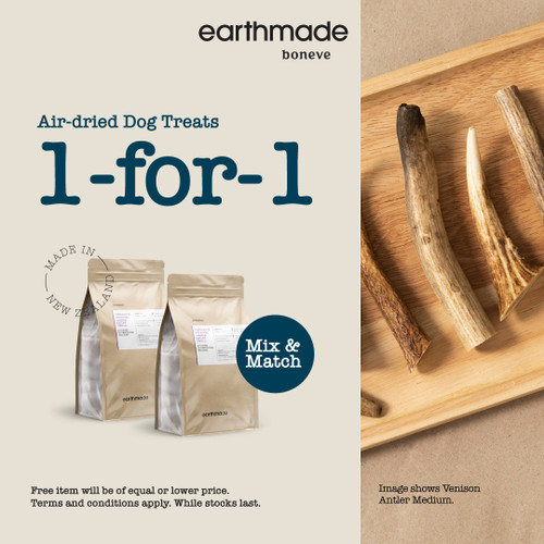 Earthmade Air-Dried Dog Treat 1 for 1