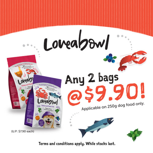 2 for $9.90 Loveabowl Dog Kibbles 250g