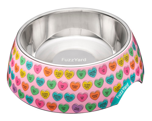 Fuzzyard Easy Feeder Bowl - Candy Hearts