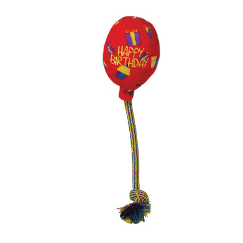 Kong Occasions Birthday Balloon Toy Red