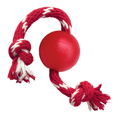 Kong Classic Ball with rope toy