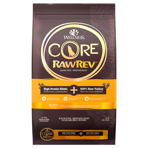 Wellness Core Raw Rev Puppy Kibbles with Freeze Dried Dry Food
