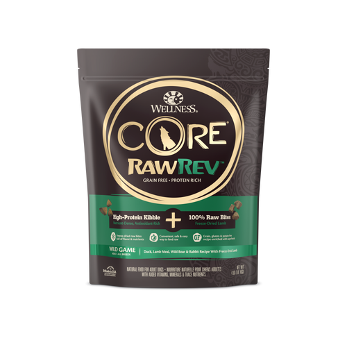 Wellness Core Raw Rev Wild Game Kibbles with Freeze Dried Dry Food