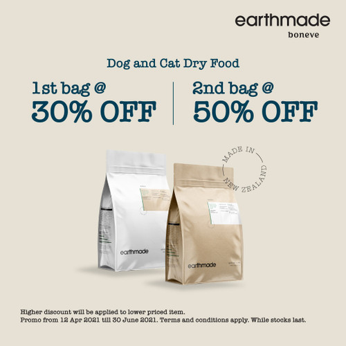Promo Earthmade New Zealand 1.36kg Dry Food for Adult Dogs