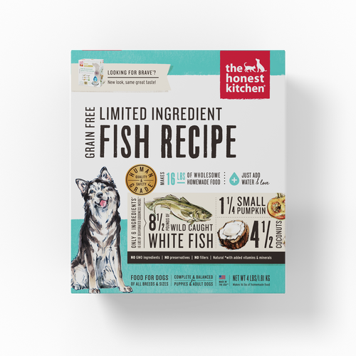 The Honest Kitchen Dehydrated Limited Ingredient Fish Recipe (Brave) Dog Food