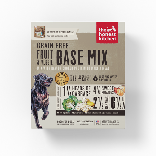 The Honest Kitchen Dehydrated Grain Free Fruit & Veggie Base Mix (Preference) Dog Food